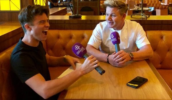 Watch: Jacob catches up with Gordon Ramsay!