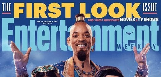 The first look at Will Smith as the Genie in Aladdin!