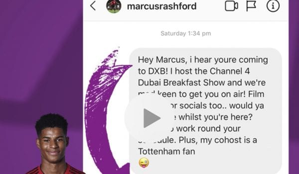 Marcus Rashford replies to Nimi's message