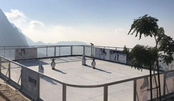 You can now skate at the top of Jebel Jais!