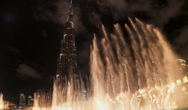 Dubai Fountain Show is playing 'A Star is Born' song!