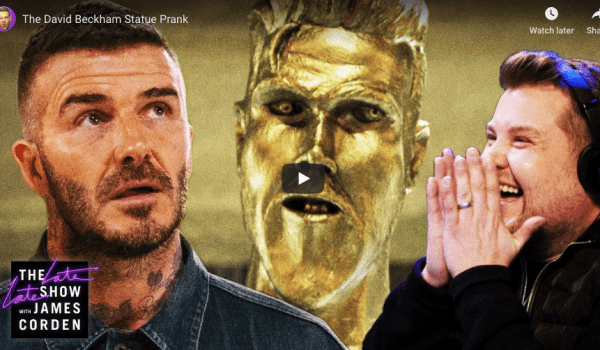 James Corden pranks David Beckham!