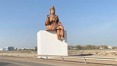 Why is this giant Buddha statue on SZR?