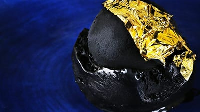 Dubai has a 23-Carat Gold Charcoal Ice Cream!
