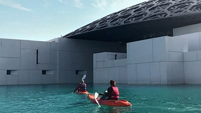 You can now take a kayak around Louvre Abu Dhabi!