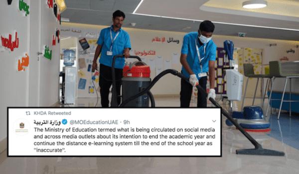 "DUBAI SCHOOLS HAVE ""NO INTENTION"" TO END ACADEMIC SCHOOL YEAR"