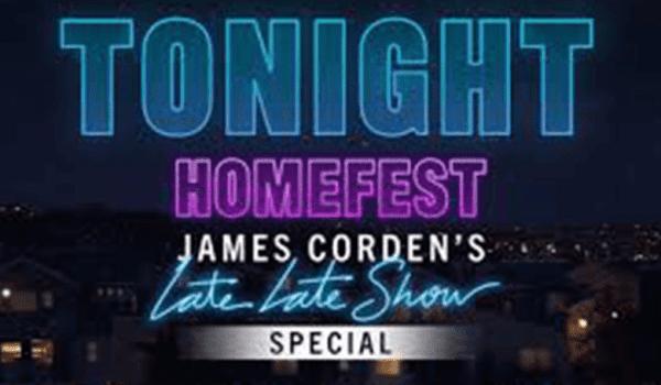 JAMES CORDEN KICKS OFF #HOMEFEST FROM HIS GARAGE